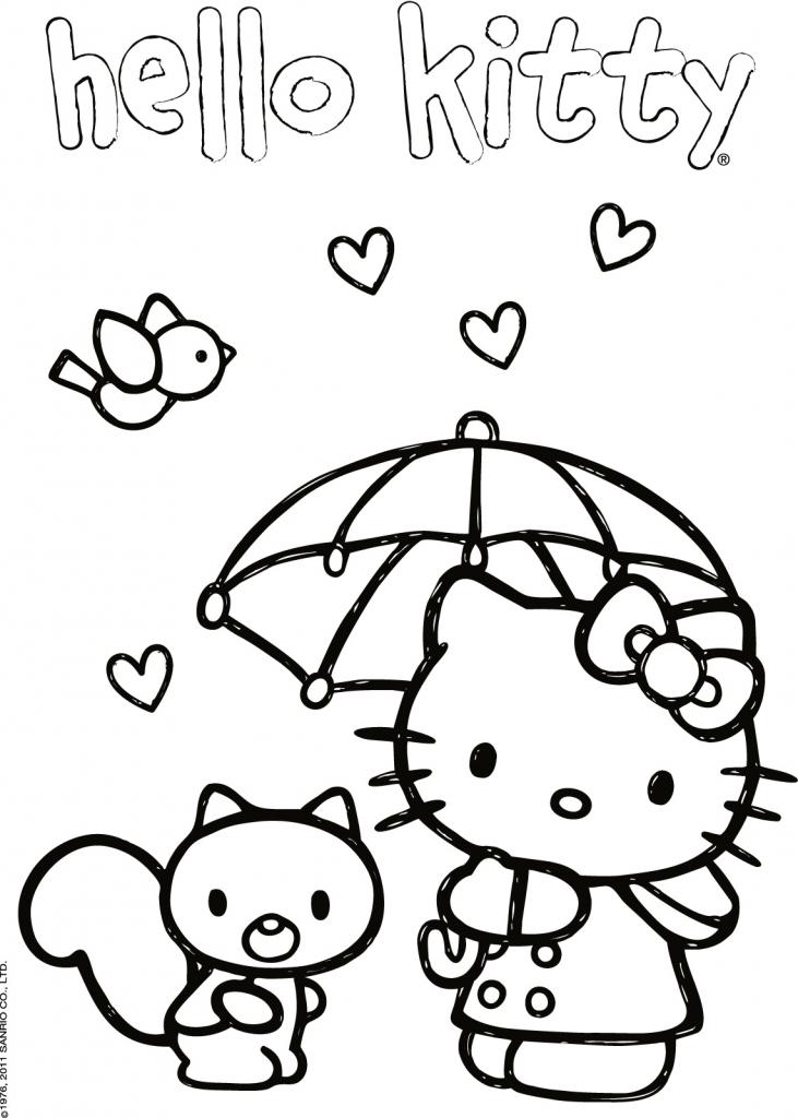 Stampa e colora hello kitty kittylove for Disegni da colorare hello kitty